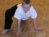 Klassische Dehnübung im Kung Fu