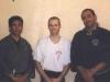 GM Al Dacascos und Si Gung Hubert Wolf mit seinem ersten Schwarzgurt Si Hing Marvin Sadrinna im Jahr 1998