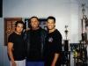 Professor Mark Dacascos, Si Gung Hubert Wolf und Si Fu Emanuel Bettencourt in frühen Jahren