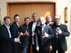 Schwarzgurtbankett 2010, GM Al Dacascos mit seinene Schülern Si Gung Hubert Wolf und allen Schwarzgurten der ersten Generation