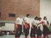 Teamkampf. Vlnr. Si Hing André, Nico E., Nicolai K., Ramin K. und Armin S.